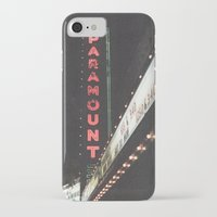 theater iPhone & iPod Cases featuring Paramount Theater  by Luke Gram