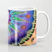 ohm Mugs featuring Ohm Mandala  by Kaleidoscopic
