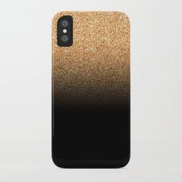 Golden Glitter iPhone Case