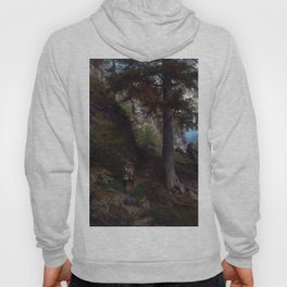 Hans Gude Painting -  Hvile P Stien 1878  | Reproduction | Norwegian Art Hoody
