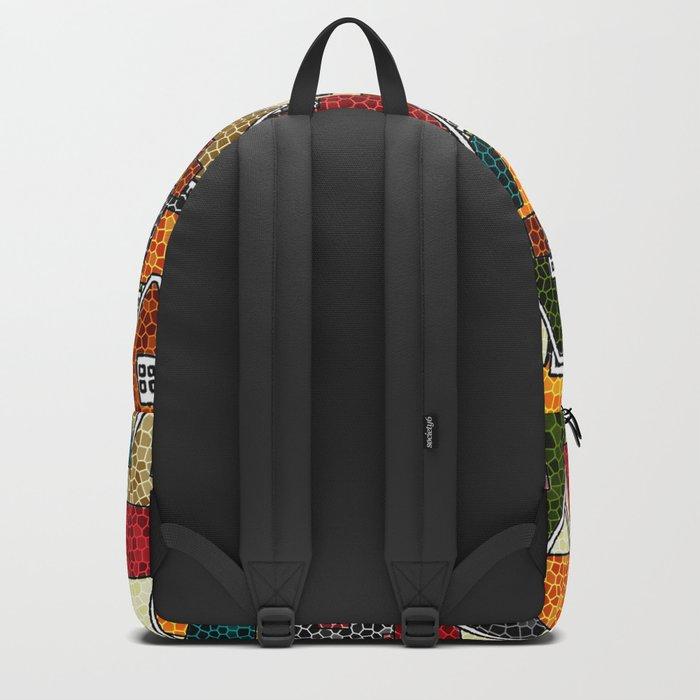 Small Mosaic Village Backpack
