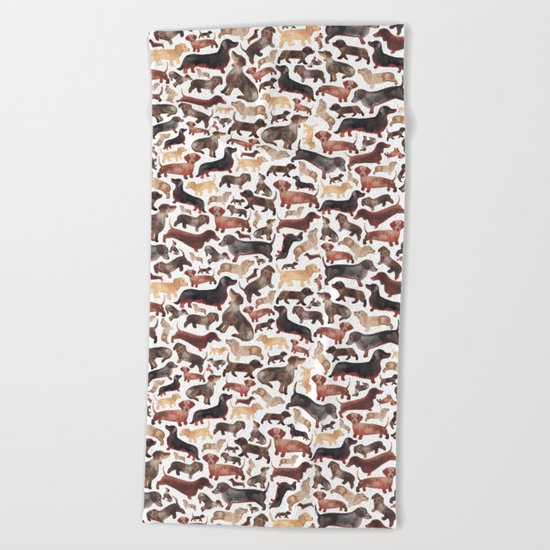 Dachshund Beach Towel