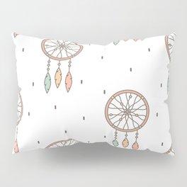cute cartoon flat pattern background with native american indian dreamcatcher Pillow Sham
