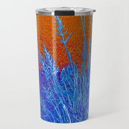 Blue Grass Red Travel Mug