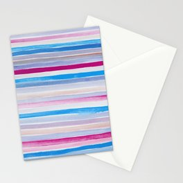 Watercolor Neck Gaiter Watercolor Blue Purple Stripes Neck Gator Stationery Cards