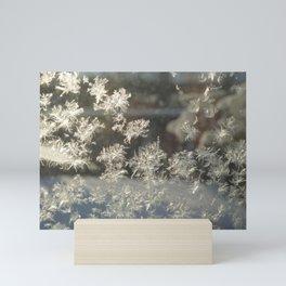 Sparkling Snow Crystals - Delicate Beauty Mini Art Print