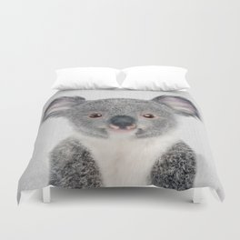 Baby Koala - Colorful Duvet Cover