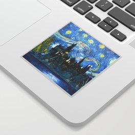 Starry Night in H castle Sticker