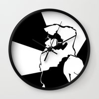 santa Wall Clocks featuring Santa  by xiari