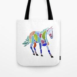 Colorful Mosaic Horse Tote Bag