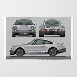 1973 RSR Tribute Fashion Grey Julian Reznik Grey Bumpers Rug