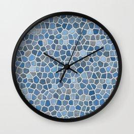 Blue Mosaic Pattern - Light Wall Clock