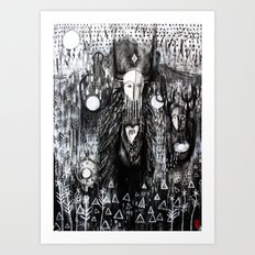 The Wild Procession Art Print