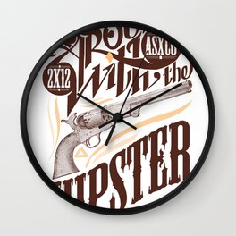 Ridin' Around With the Hipster Wall Clock