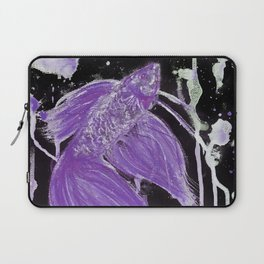 Purple Drip Spatter Betta Laptop Sleeve