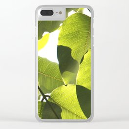 Close Up Leaves Clear iPhone Case