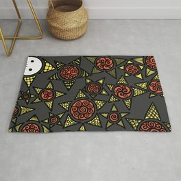 Autumn lonely stars Rug