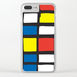 Mondrian Variation 1 Clear iPhone Case