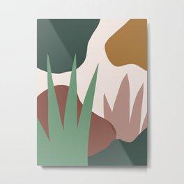 Abstract Garden 1 Metal Print