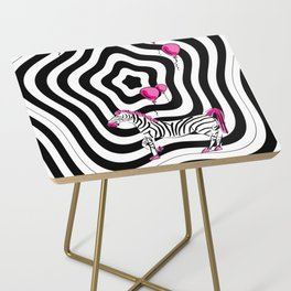 Pink Zebra Dream Side Table