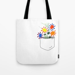 Pablo Picasso Bouquet Of Peace 1958 in a Pocket (Flowers Bouquet With Hands), T Shirt, Artwork Tote Bag