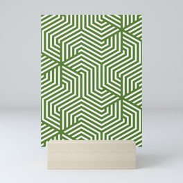 Sap green - green - Minimal Vector Seamless Pattern Mini Art Print