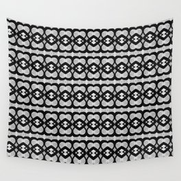 Heartlines gray pattern Wall Tapestry