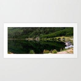 Evening Jade Reflections on Crystal Lake Art Print