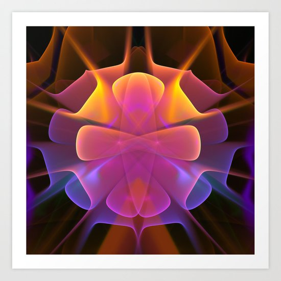 Curves and Colors, geometric abstract Art Print