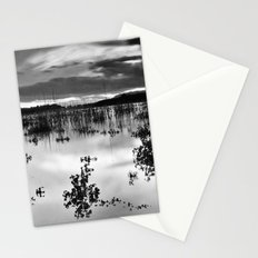 Calm sunset at the lake, Bn series. Stationery Cards