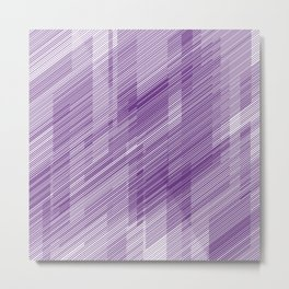 The Purple Hash - Geometric Pattern Metal Print