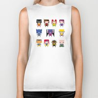 x men Biker Tanks featuring Pixel X-Men by PixelPower