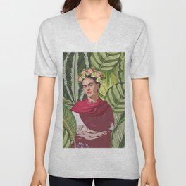 Wild Frida Kahlo Unisex V-Neck