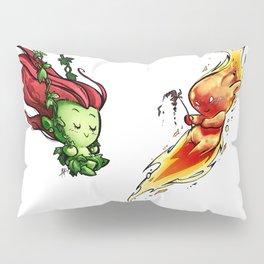 Inktober Poison Ivy & Torch Man Pillow Sham