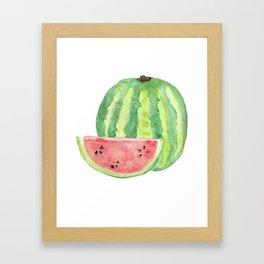 Watermelon Watercolour  Framed Art Print