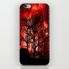 black trees red space iPhone & iPod Skin