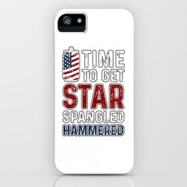 Time To Get Star Spangled Hammered iPhone Case