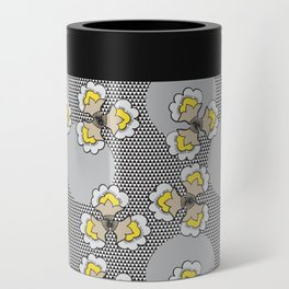 MAYA - Grey & Yellow Can Cooler