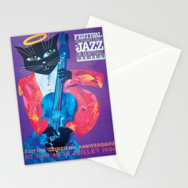 1994 Montreal Jazz Festival Cool Cat Poster No. 1 Gig Advertisement Stationery Cards