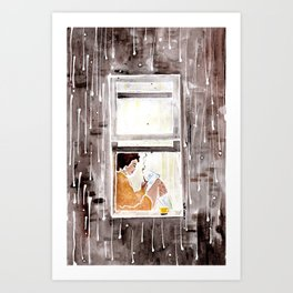 The Cozy Storm  Art Print