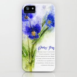 Pansy Flowers iPhone Case