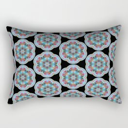 Transparent Floral Sushi Geometric Pattern Rectangular Pillow