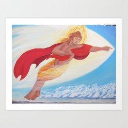 Apollo, Flying Art Print