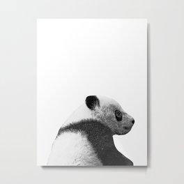 baby panda b&w Metal Print