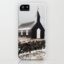 A Church on the Lava Rocks iPhone Case