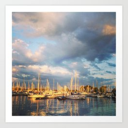 Montrose Harbour Art Print