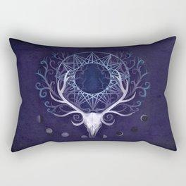 Season Of The Moon's Winter Fire Rectangular Pillow