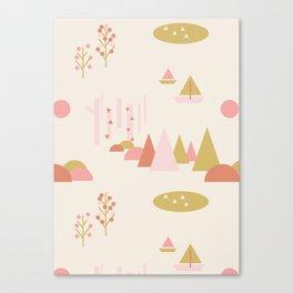 Scandinavian Summer Land 1 Canvas Print