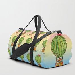 Ms Neko in cactus hot baloon Duffle Bag