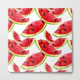 Fruity Water Melon Pattern Metal Print